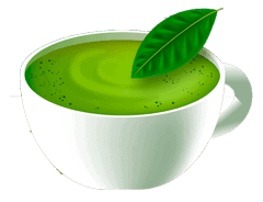 green tea and milk