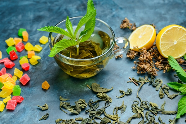 Tea-with-mint-and-herbs