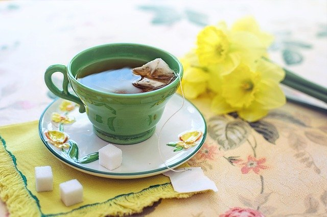 sweet green morning tea