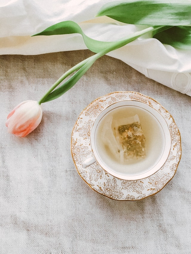 Cup and Saucer with teabag