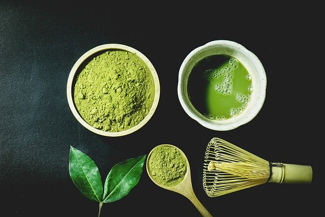 Matcha Powder Liquid In A Dish